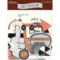 Hey Mister Mixed Bag Cardstock Die-Cuts 50/Pkg - W/Copper Foil