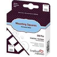 Scrapbook Adhesives Mounting Squares 250/Pkg Permanent, White, .5