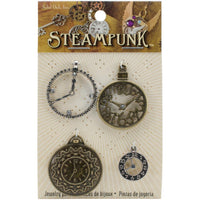 Steampunk Metal Accents 4/Pkg Clocks 1