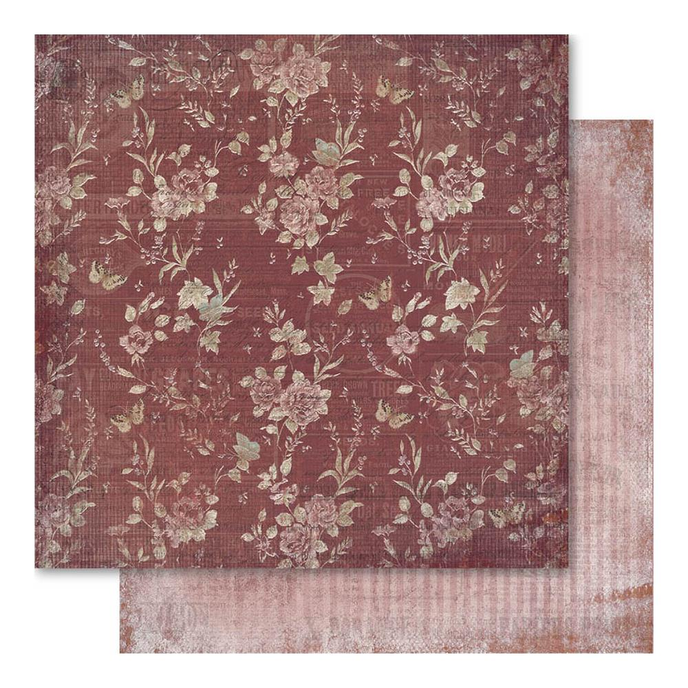 "Ruby Rock-It - Faded Empire - Floral 12""x12"""