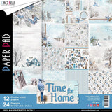 "Ciao Bella Double-Sided Paper Pack 90lb 12""X12"" 12/Pkg  Time For Home, 12 Designs/2 Each"