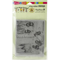 Stampendous House Mouse Cling Stamp - Mice Hockey