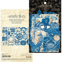 Graphic 45 - Ocean Blue Cardstock Die-Cut Assortment