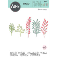 Sizzix Thinlits by Sharon Druy - Delicate Leaves - Metal Die