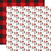 Echo Park Let's Lumberjack Double-Sided Cardstock 12