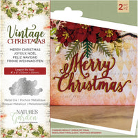 Nature's Garden Vintage Christmas Die Merry Christmas