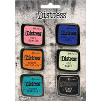 Tim Holtz Distress Enamel Collector Pin Set 6/Pkg - Set 4