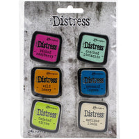 Tim Holtz Distress Enamel Collector Pin Set 6/Pkg - Set 1
