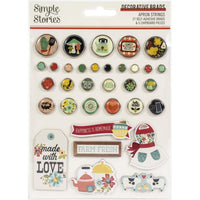 Simple Stories - Apron Strings Decorative Brads 33/Pkg
