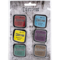 Tim Holtz Distress Enamel Collector Pin Set 6/Pkg - Set 2