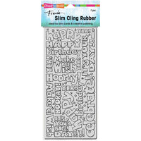 Stampendous Cling Stamp - Slim Birthday Words