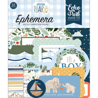 Echo Park - Cardstock Ephemera 33/Pkg Icons - Welcome Baby Boy