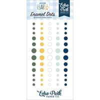 Echo Park - Adhesive Enamel Dots 60/Pkg - Welcome Baby Boy
