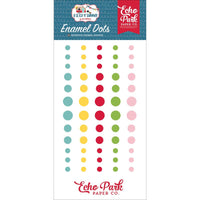 Echo Park -  Adhesive Enamel Dots 60/Pkg - A Slice Of Summer