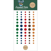 Carta Bella Adhesive Enamel Dots 60/Pkg Outdoor Adventures