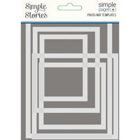 Simple Stories Simple Pages Photo Mat Templates 5/Pkg - 2