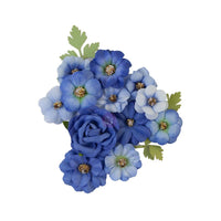 Prima Marketing Mulberry Paper Flowers Blue River/Nature Lover