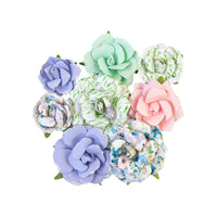 Prima Marketing Mulberry Paper Flowers Rose Gouache/Watercolor Floral