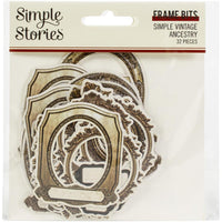 Simple Vintage Ancestry Bits & Pieces Die-Cuts 32/Pkg Frame