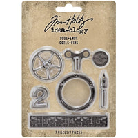 Idea-Ology Metal Odds & Ends 7/Pkg Antique Nickel