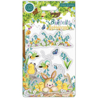 Craft Consortium - A5 Clear Stamps - Chicks, Bluebells & Buttercups
