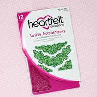 Heartfelt Creations - Swirly Accent Spray - Craft Die - HCD1-7263