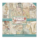"Stamperia - Imagine 8""x8"" Paper Pack - 10 Designs, 1 of Each"