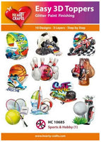 Hearty Crafts - Easy 3D Toppers - Sports & Hobby (1)