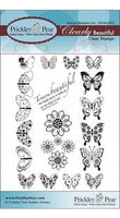 Prickley Pear - Mini Butterflies Clear Stamp Set CLR023