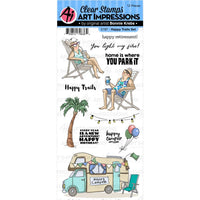 Art Impressions - Happy Trails - Clear Stamp Set