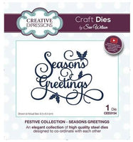 Creative Expressions - Seasons Greetings Metal Die