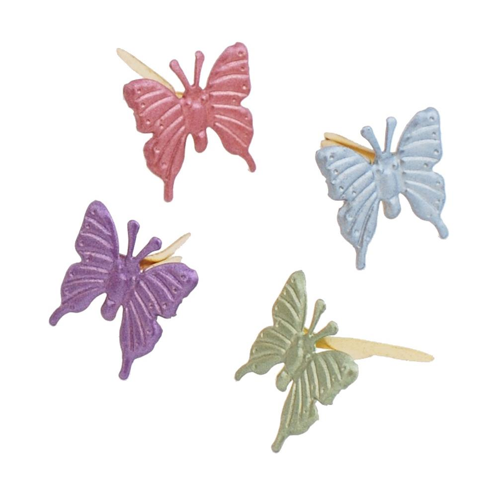 Creative Impressions - Pearl Butterfly Brads