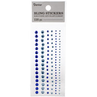 Darice - Bling Stickers - Blue Rhinestones
