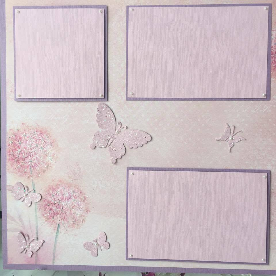 Sparkled Butterfly Layout with Carol Wed. class - Sorry we are Sold Out