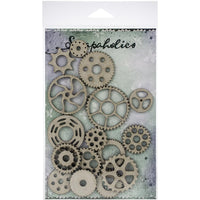 Scrapaholics - Cog Chipboard Pieces