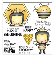 Darcie's Clear Polymer Stamp Set - Hello Honey - POL286