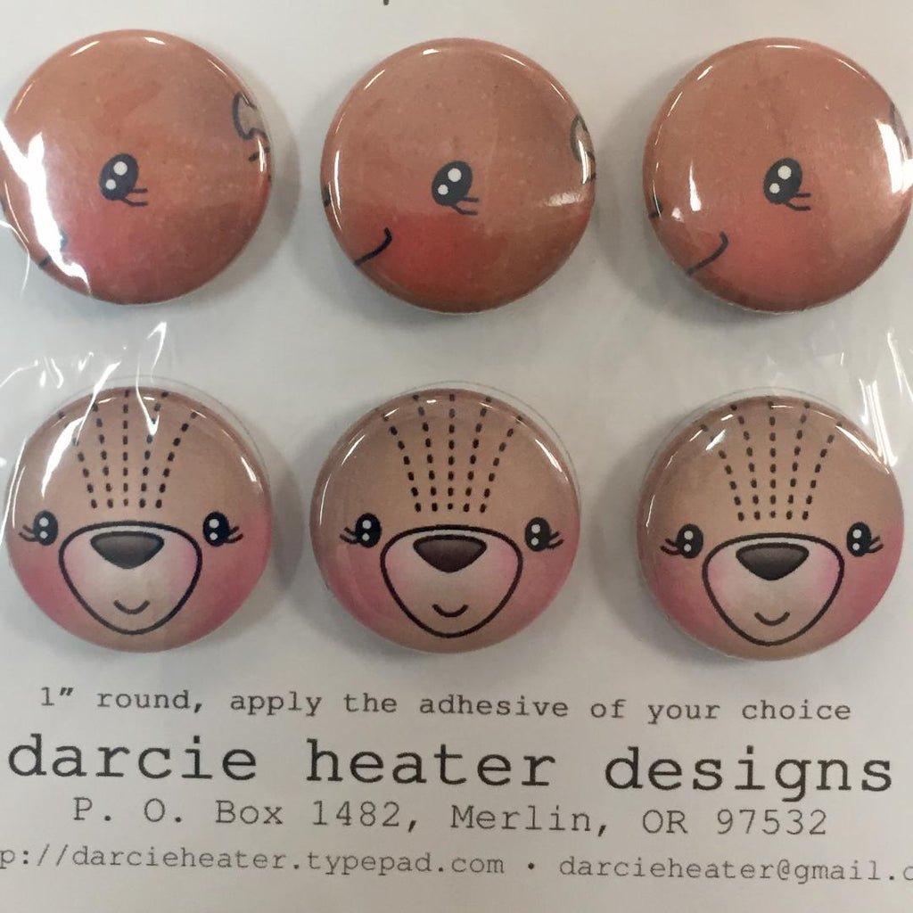 Darcie Heater Designs Flat Back Tin Pin - Moosed Up - DHD394