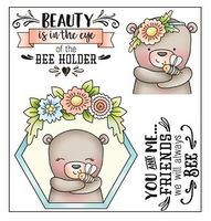 Darcie's Clear Polymer Stamp Set - Bee Holder - POL344