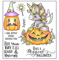 Darcie's Clear Polymer Stamp Set - Magical Halloween - POL366