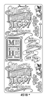 Peel Off Sticker - Marie Eve Merry Christmas - Silver