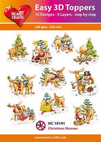 Hearty Crafts Easy 3D Toppers - Christmas Mooses