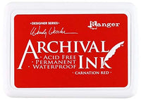 Ranger Mini Archival Ink Pads  - Carnation Red