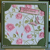 Nellie's Choice - Embossing Folder - Roses