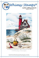 Whimsy - Cling Rubber Stamp - Beach Scene