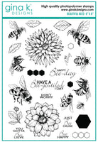 Gina K - Clear Stamp Set - Beautiful Bees
