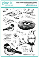 Gina K - Clear Stamp Set - Beautiful Birds