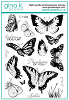 Gina K - Clear Stamp Set - Beautiful Butterflies