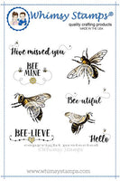 Whimsy - Cling Rubber Stamp - Bee-utiful Bees