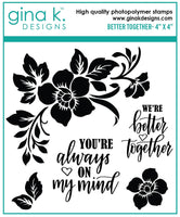 Gina K - Clear Stamp Set - Better Together Mini