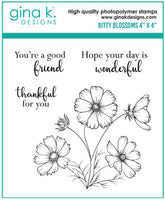 Gina K - Clear Stamp Set - Bitty Blossoms Mini